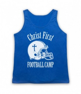 Christ First Football Camp Religious Christian American Football Tank Top Vest Tank Top Vests