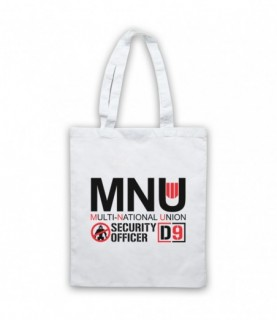 District 9 Multi National Union MNU Security Officer Tote Bag Tote Bags