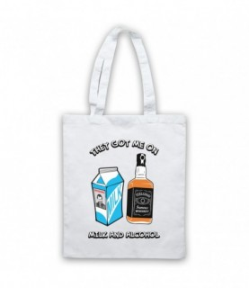 Dr Feelgood Milk & Alcohol Tote Bag Tote Bags