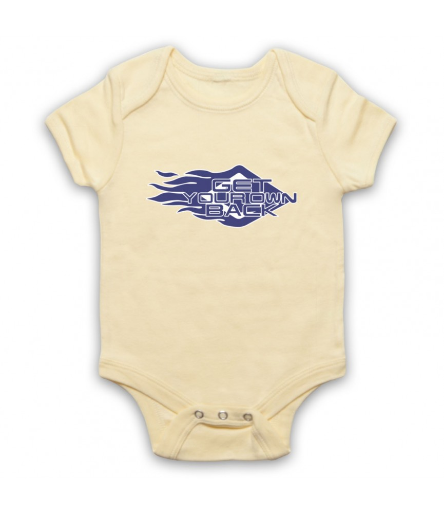 Get Your Own Back TV Gameshow Logo Baby Grow Baby Grows