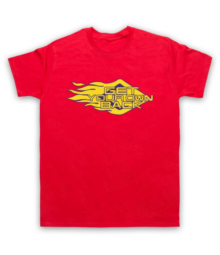 Get Your Own Back TV Logo Mens Red T-Shirt