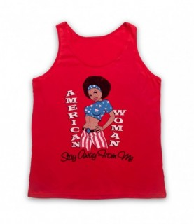 Guess Who American Woman Tank Top Vest Tank Top Vests