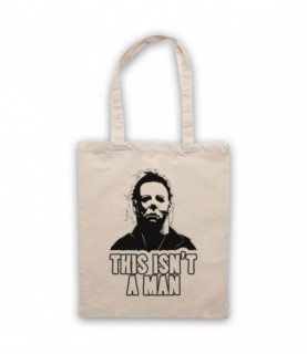 Halloween Michael Myers This Isn't A Man Tote Bag Tote Bags