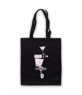 I Love Cocktails Alcoholic Cocktail Drinker Tote Bag Tote Bags