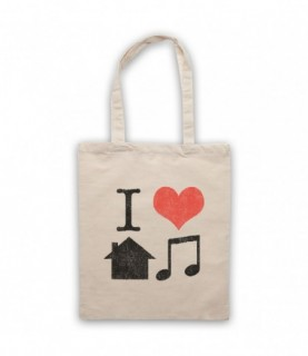 I Love House Music Lover Tote Bag Tote Bags