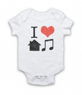 I Love House Music Lover Baby Grow Baby Grows