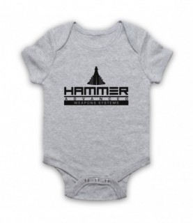 Iron Man 2 Hammer Advanced Weapons Systems Baby Grow Baby Grows