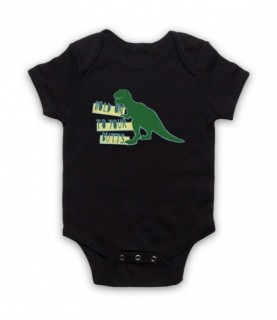 Jurassic Park Hold On To Your Butts T-Rex Baby Grow Baby Grows