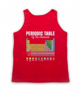 Periodic Table Of Elements Chemical Elements Science Geek Tank Top Vest Tank Top Vests