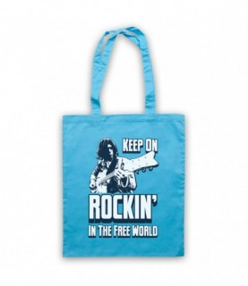 Neil Young Rockin' In The Free World Tote Bag Tote Bags