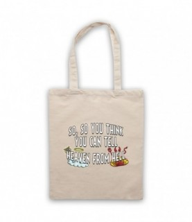 Pink Floyd Wish You Were Here Heaven From Hell Tote Bag Tote Bags