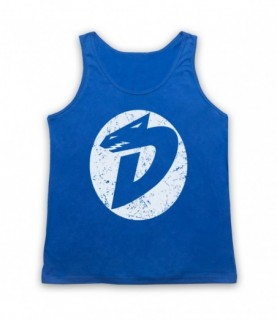 Dinosaucers Letter D Logo Adults Royal Blue Tank Top