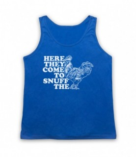 Alice In Chains Rooster Adults Royal Blue Tank Top