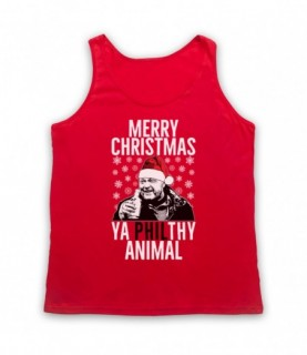 Eastenders Phil Mitchell Merry Christmas Ya Philthy Animal Adults Red Tank Top