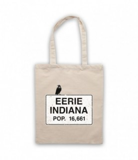 Eerie Indiana Welcome Sign Natural Tote Bag