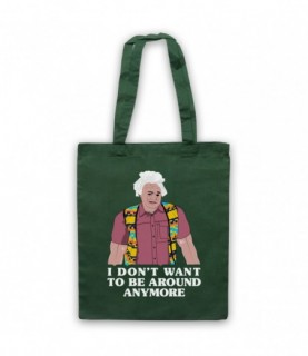 I Think You Should Leave Karl Havoc I Don't Want To Be Around Anymore Dark Green Tote Bag