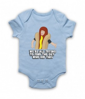 I Think You Should Leave Hotdog Guy Trying To Find The Guy Who Did This Light Blue Baby Grow