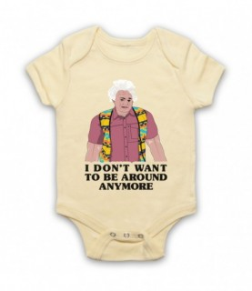 I Think You Should Leave Karl Havoc I Don't Want To Be Around Anymore Light Yellow Baby Grow