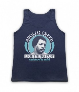 Rocky 2 Apollo Creed Lightning Fast And Hard To Catch Tank Top Vest Tank Top Vests