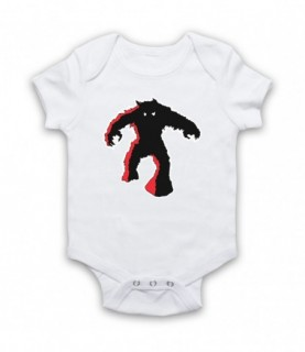 Space Invaders Red Monster Baby Grow Baby Grows