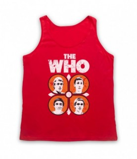 The Who 70's Band Members Tank Top Vest Tank Top Vests