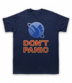 Hitchhiker's Guide To The Galaxy Don't Panic T-Shirt T-Shirts