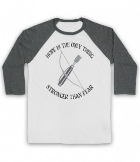 Hunger Games Hope Is The Only Thing Stronger Than Fear Baseball Tee Baseball Tees