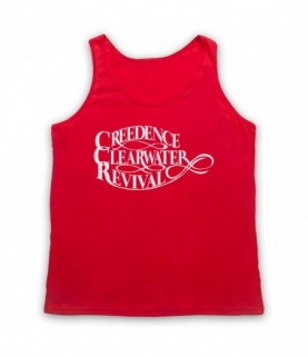 Creedence Clearwater Revival CCR Logo Tank Top Vest Tank Top Vests