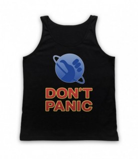 Hitchhiker's Guide To The Galaxy Don't Panic Tank Top Vest Tank Top Vests