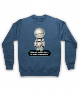 Hitchhiker's Guide To The Galaxy Marvin The Paranoid Android Hoodie Sweatshirt Hoodies & Sweatshirts