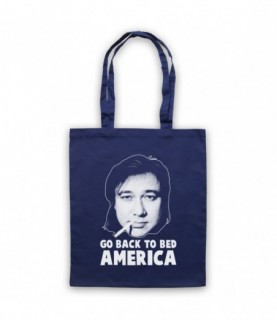 Bill Hicks Go Back To Bed America Tote Bag Tote Bags