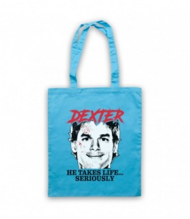 Dexter He Takes Life Seriously Tote Bag Tote Bags
