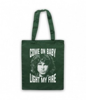 Doors Jim Morrison Come On Baby Light My Fire Tote Bag Tote Bags