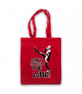 Fawlty Towers Basil Don't Mention The War Tote Bag Tote Bags