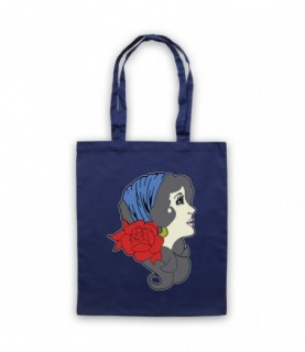 Gypsy Lady Tattoo Graphic Illustration Tote Bag Tote Bags