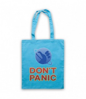 Hitchhiker's Guide To The Galaxy Don't Panic Tote Bag Tote Bags