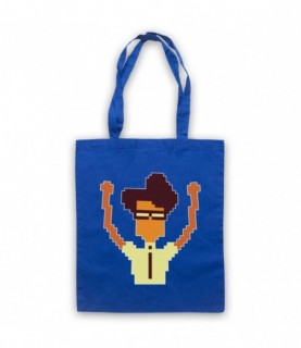 IT Crowd Moss Pixelated Tote Bag Tote Bags