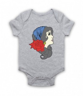 Gypsy Lady Tattoo Graphic Illustration Baby Grow Baby Grows