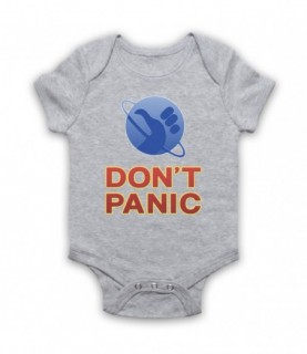 Hitchhiker's Guide To The Galaxy Don't Panic Baby Grow Baby Grows
