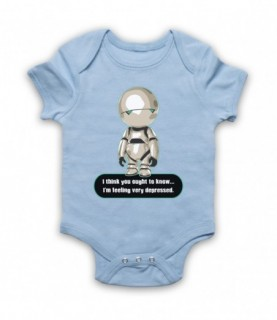 Hitchhiker's Guide To The Galaxy Marvin The Paranoid Android Baby Grow Baby Grows