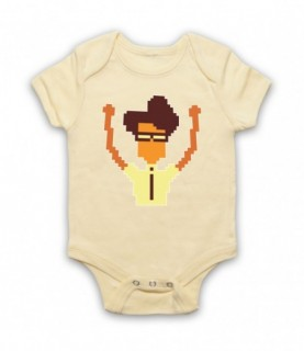 IT Crowd Moss Pixelated Baby Grow Baby Grows
