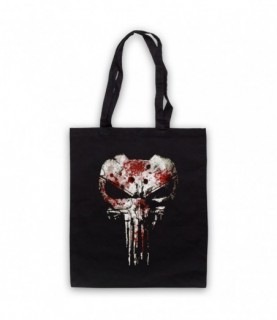 Punisher Skull Bullet Proof Jacket Tote Bag