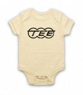 Kraftwerk Krautrock Trans-Europe Express Train Logo Baby Grow Bib