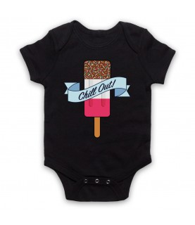 Chill Out Retro Fab Ice Lolly Baby Grow Bib