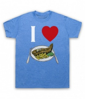 I Love Fish And Chips Iconic British Dinner T-Shirt