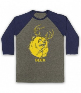 It's Always Sunny In Philadelphia Beer Bear As Worn By Mac Baseball Tee