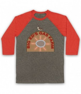 Twin Peaks Big Ed's Gas Farm Baseball Tee