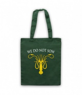 Game Of Thrones House Greyjoy Sigil We Do Not Sow Tote Bag
