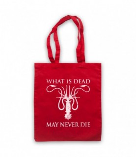 Game Of Thrones House Greyjoy Sigil What Is Dead May Never Die Tote Bag