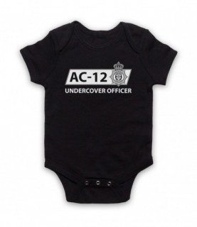 Line Of Duty AC-12 Undercover Officer Baby Grow Bib
